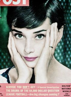 Audrey Hepburn on the cover of Picture Post, September 1955