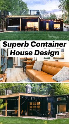 Tiny Container House, Sea Container Homes, Building A Container Home, Building A Tiny House, Container Buildings, Tiny House Cabin, Tiny House Living, Unique House Design, Tiny House Design