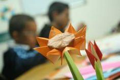 Origami Sunflower Origami Shapes, Creative, Design