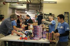 A huge thanks to Hasbro for volunteering in our Wearhouse. They unpacked thousands of toys and tagged them to prepare them for our store!