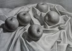 Richard Romero Art: Still Life Apples Drawing 18x24""