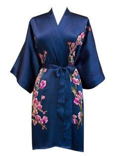 """""""Women's Silk Kimono- Handpainted (Short)"""" - Old Shanghai"""
