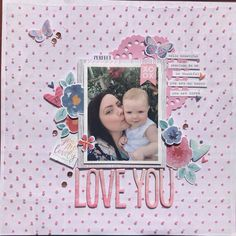 Baby Girl Scrapbook, Baby Scrapbook Pages, Paper Crafts, Diy Crafts, Journal Diary, Hello Beautiful, Scrapbooking Layouts, Baby Photos, Christmas Crafts