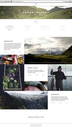 Clean grids, a strong type, and wonderful photos. Noma Authentic | Website & App by Jonas Emmertsen, via Behance