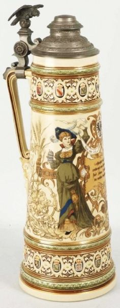 Image detail for -Mettlach 5-Liter Beer Stein. : Lot 543