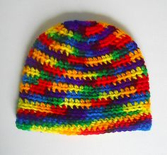 Baby  Rainbow Hat Infant Girl Cap Boy Winter by BundleOfJoyShop, $14.00