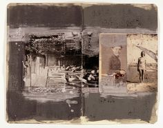 Paul Fieldsend-Danks: Untitled (Ode for Port Quin) Photographs, Indian ink, acrylic and chalk on sketchbook page, 202mm x 255mm, 2008. Private collection