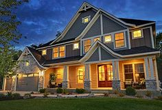 Plan W73325HS: Craftsman, Northwest, Luxury, Premium Collection, Sloping Lot, Photo Gallery House Plans & Home Designs