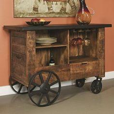 August Grove Bar with Wine Storage
