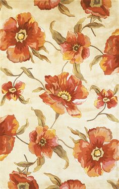 KAS Oriental Rugs Catalina Ivory Poppies Rug & Reviews | Wayfair