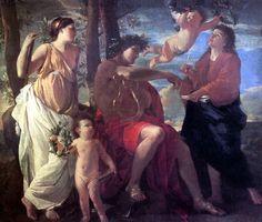 """""""Inspiration of the Poet"""" by Nicolas Poussin (Musée du Louvre, Paris). Framed Art Prints, Painting Prints, Fine Art Prints, Poster Prints, Picasso, Oil On Canvas, Canvas Art, Canvas Prints, Poussin Nicolas"""