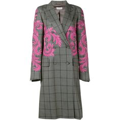 DRIES VAN NOTEN (122.200 RUB) ❤ liked on Polyvore featuring outerwear, coats, woolen coat, plaid wool coat, wool coat, double breasted coat and dries van noten coat