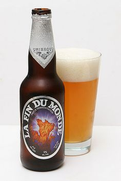 La Fin Du #Monde. A Quebec take on a Belgian #Tripel. A few of these will knock you on your ass