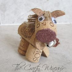 Rustic Pony, Horse Wine Cork Ornament in Chocolate Brown - The Crafty Wineaux