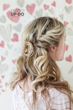 Twisted Up-Do  Read more - http://www.stylemepretty.com/living/2014/02/04/a-simple-relaxed-twist/