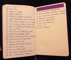 Bucket List in BuJo