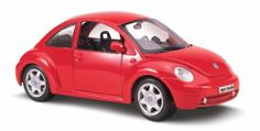 Maisto Special Edition 1:25 Volkswagen New Beetle by Maisto. $14.99. Amazon.com                Sleek, compact, and built low, the 1:25 scale Volkswagen New Beetle is an aerodynamic dream. This 6-inch die-cast metal model is key red and finely detailed--even the VW logos on the hubcaps look great. Open the doors or the front hood to check out the interior details, which are just as well designed. The rear-view mirror, the dashboard, and the passenger-side handle all wor...
