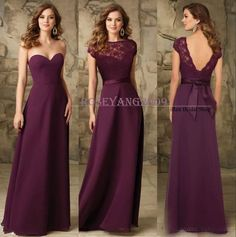 Chic Crape Cheap Loing Chiffon Bridesmaid Dresses Women Wedding Party Prom Gowns