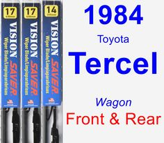 Front & Rear Wiper Blade Pack for 1984 Toyota Tercel - Vision Saver