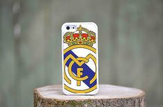 Madrid Real Football Rubber Plastic White Phone Case Cover fits Iphone 4 s 5 5c in Mobile Phones & Communication | eBay