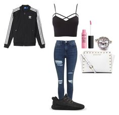 """""""5"""" by manii13k on Polyvore featuring Charlotte Russe, Topshop, adidas, Michael Kors and plus size clothing"""