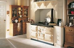A new design of AGA range cooker that can be switched off has been selling well and should drive growth in warmer climates overseas, its manufacturer said. Cottage Kitchens, Home Kitchens, Dream Kitchens, Country Kitchens, Farmhouse Kitchens, Aga Surround, Fire Surround, Aga Kitchen, Kitchen Ideas