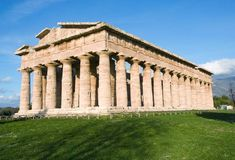 The Temple of Neptune (c.460 BCE) is the best preserved of the three Doric temples in Paestum, Italy.