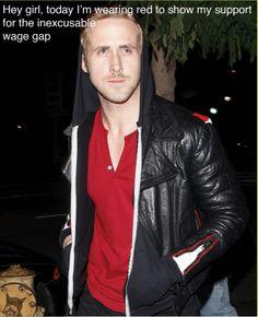 Ryan Gosling celebrates Equal Pay day