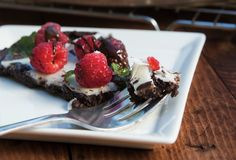 Flourless Chocolate Dessert Pizza