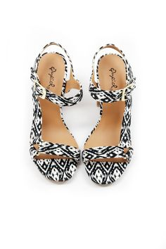 When you want to add a little fun to your look, but still shy away from color, these cute sandals got you.