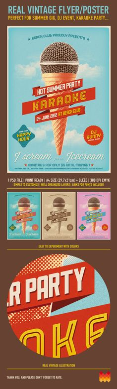 Vintage Flyer/Poster by moodboy , via Behance