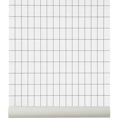 Grid tapetti, musta/valkoinen