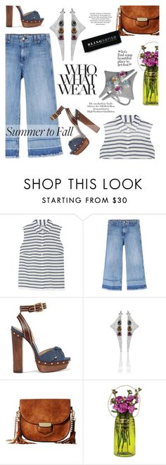 """""""Summer to Fall"""" by blingsense ❤ liked on Polyvore featuring Madewell, Current/Elliott, Schutz, Gabriella Rocha, Cultural Intrigue and Who What Wear"""
