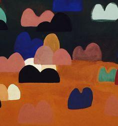 color mountains 2015, yuxtaposición de color y forma sobre lienzos de 180x120 hasta 110x80