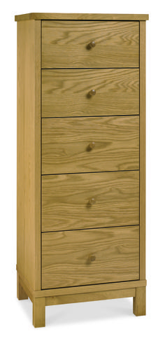 Atlanta Oak 5 Drawer Tall Chest Atlanta Oak is a streamlined, well crafted collection featuring a comprehensive selection of pieces for any bedroom. Crafted from carefully selected oak, each piece has solid wood frames and oak venee http://www.MightGet.com/january-2017-13/atlanta-oak-5-drawer-tall-chest.asp