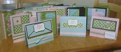 16 cards - jan's stamping creations - cool pattern!  (Mae's converted into inches)