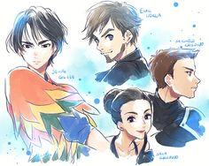 Yuri!!! On Ice (ユーリ!!! On ICE) - Seung Gil Lee, Emil Nekola, Michele & Sara Crispino