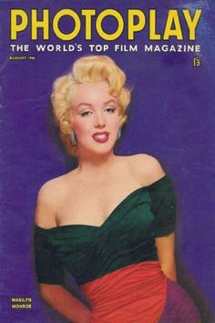 1956: Photoplay magazine cover of Marilyn Monroe  .... #normajeane #vintagemagazine #pinup #iconic #raremagazine #magazinecover #hollywoodactress #monroe #marilyn #1950s