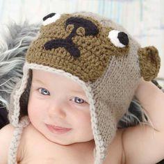Pug Beanie Hat