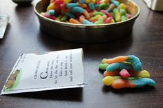 Book Worm party favor