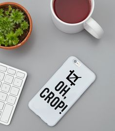 Oh Crop Instagram Funny iPhone Case Funny Gifts by FuzzyandBirch