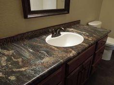 Formica 180fx Blue Storm is a bathroom vanity