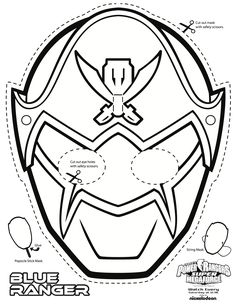 Power Rangers Colouring Mask