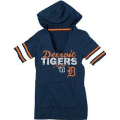 Detroit Tigers Navy Women's Baby Jersey Slit Neck Hooded T-Shirt. http://todaydeals.me/viewdetail.php?asin=B006JHM3LC