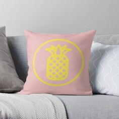 « Ananas Jaune Fruit Exotique » par LenysEcoHome | Redbubble Gold Pineapple, Golden Color, Symbols, Throw Pillows, Texture, Exotic Fruit, Slipcovers, Yellow, Surface Finish