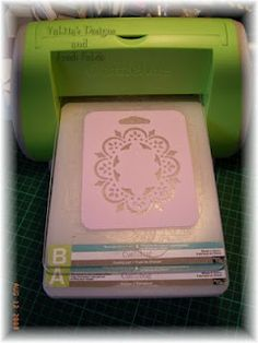 Using plastic stencils to emboss