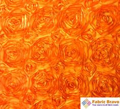 """Amazon.com: Orange 60"""" Wide Premium Satin Rosette Ribbon Fabric By the Yard: Arts, Crafts & Sewing $4.70 per yard for backdrop"""