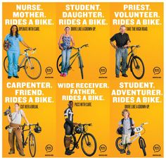 """""""Bicyclists"""" are just PEOPLE on bikes. Show some love to your neighbors & drive carefully. Dig this awesome bike safety campaign from Pittsburgh."""