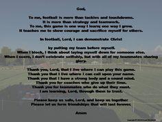 Football Prayer and Blessing Digital Print, Football Home Decor, A Football Play. Football Poems, Football Prayer, Football Speech, Youth Football, Athletes Prayer, Maid Of Honor Speech, Sage Smudging, Prayer Wall, Marriage Prayer