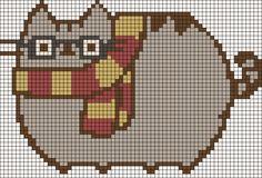 Alpha friendship bracelet pattern added by missmando. harry potter pusheen costume dress up pretend. Beading Patterns, Embroidery Patterns, Loom Beading, Cross Stitch Designs, Cross Stitch Patterns, Cross Stitching, Cross Stitch Embroidery, Modele Pixel Art, Arte Nerd